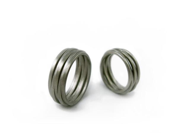 Wilde Ehe Ringe aus Platin