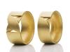Kreuzringe Partnerringe aus Gold