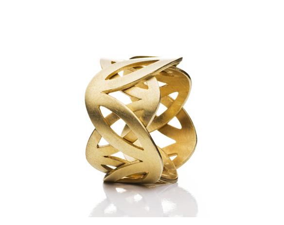 Edler Kronen-Ring aus Gold